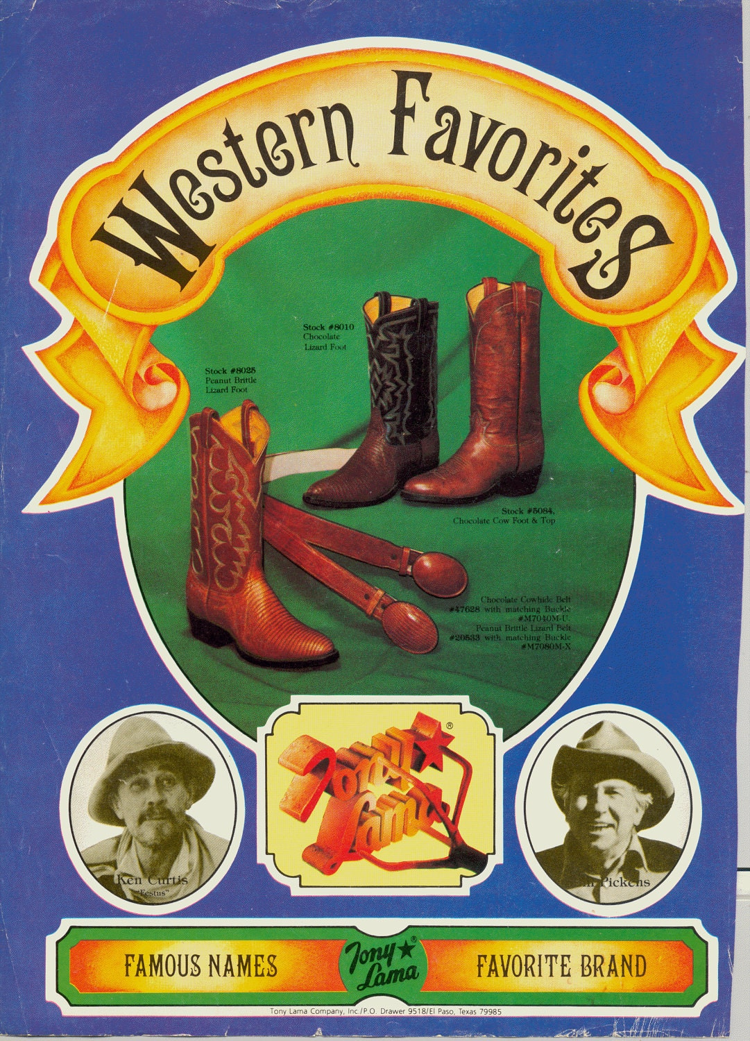 Vintage Magazine Ad for Western Favorites Tony Lama Cowboy Boots