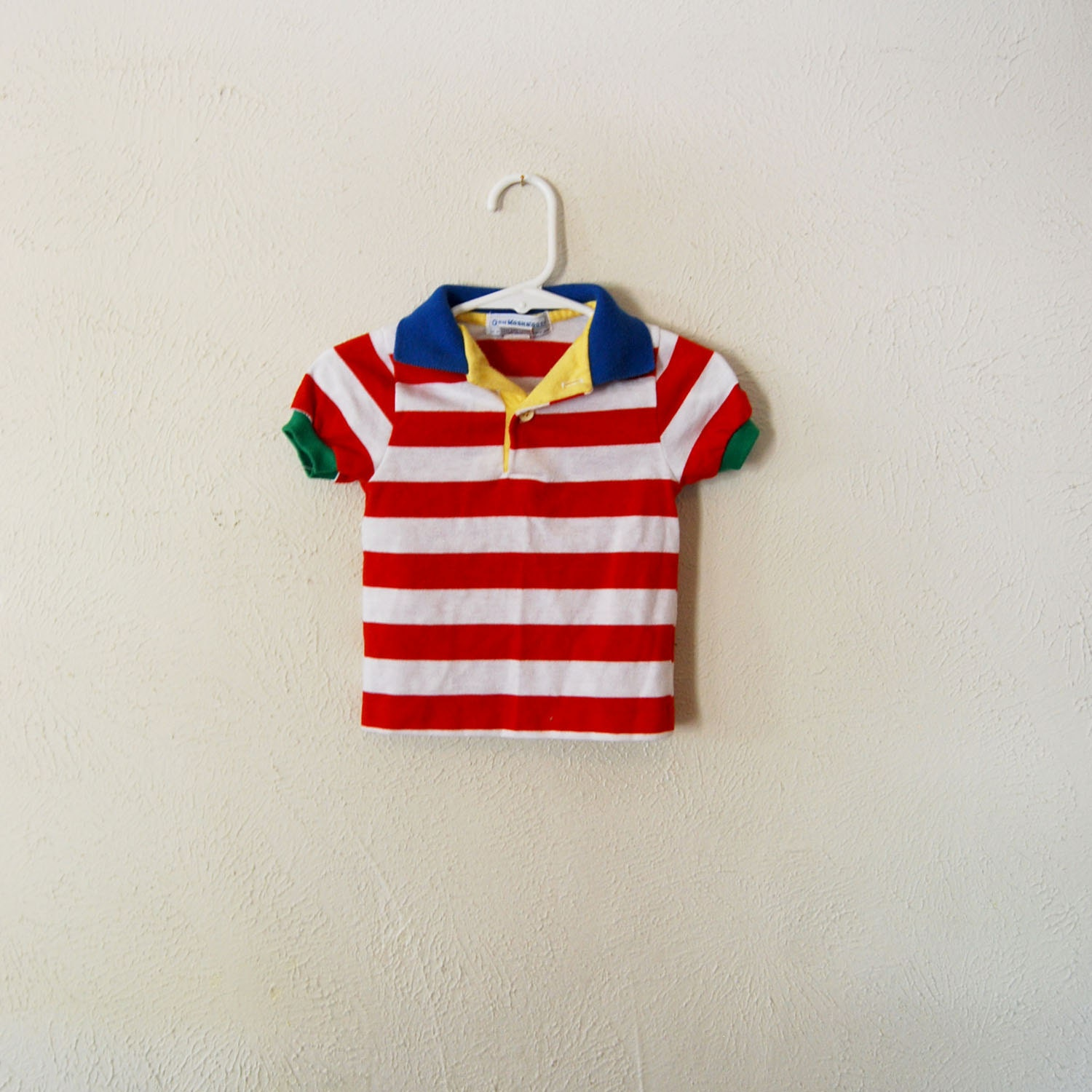 vintage made in america baby oshkosh striped collared shirt - olliesvintage