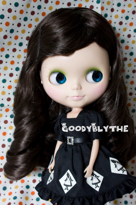 "12"" Goodyblythe Hair Wig for Blythe Dark Brown Curly W224"