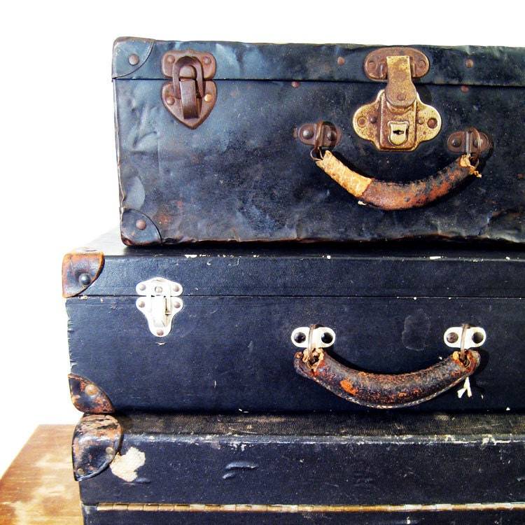 Antique Metal Suitcase