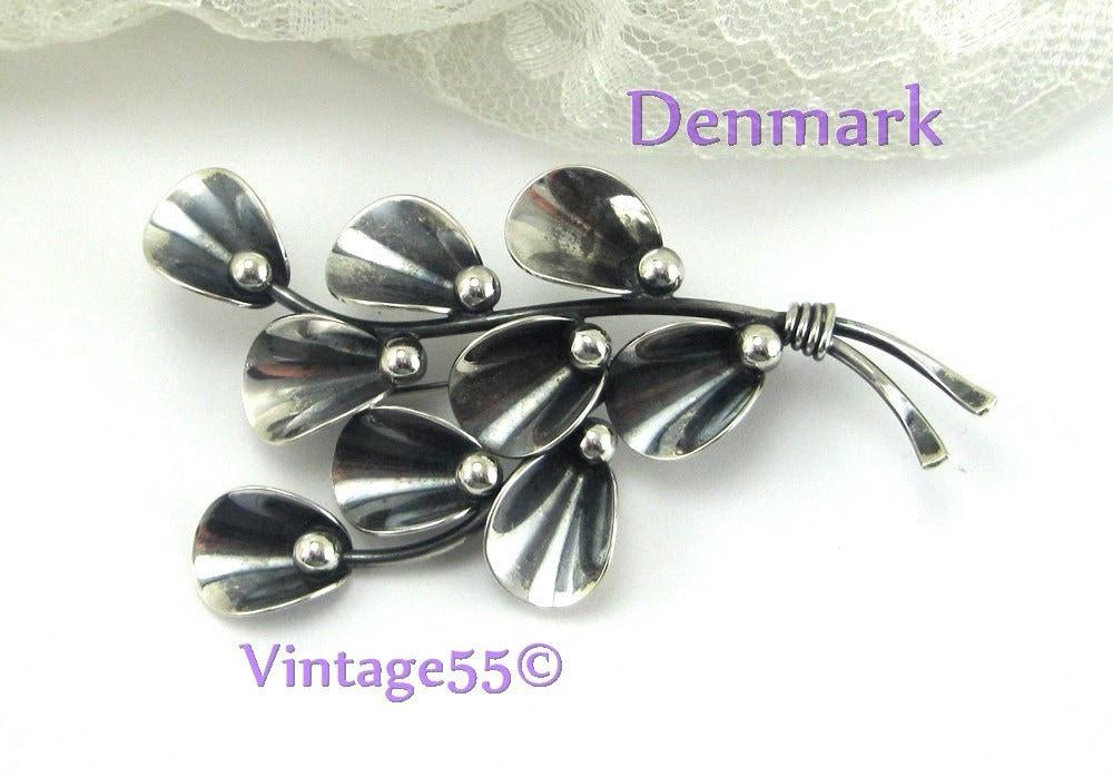 Vintage Brooch Denmark Sterling Niels Erik From - Vintage55