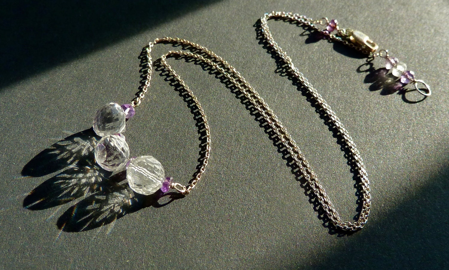Sterling Silver and Clear Quartz Necklace - CorkyWhites