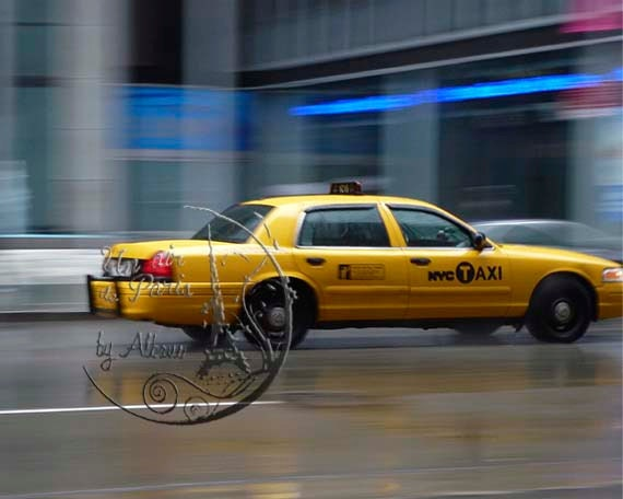 New York Taxi Photography, Taxi driver, NYC art,  taxi on a rainy day, yellow cab, New York photo, New York, for teens, 8'x10', 8'x12' urban