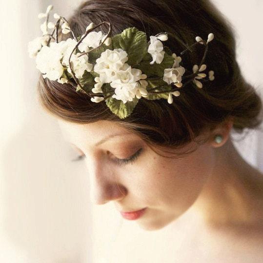 bridal flower band 'O PIONEERS' wedding accessory, headpiece