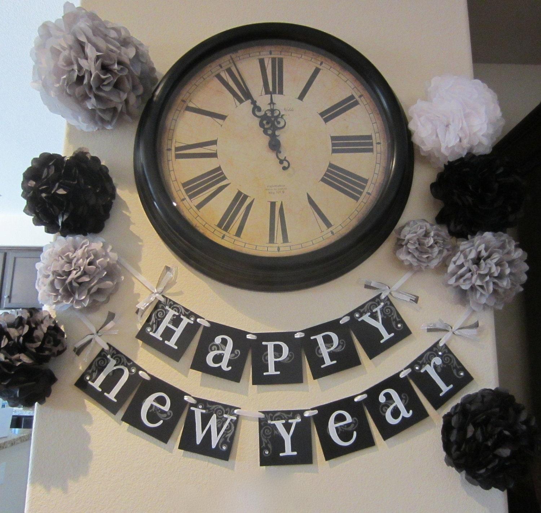 il fullxfull.296887578 Ano Novo   Decoração e preto e dourado