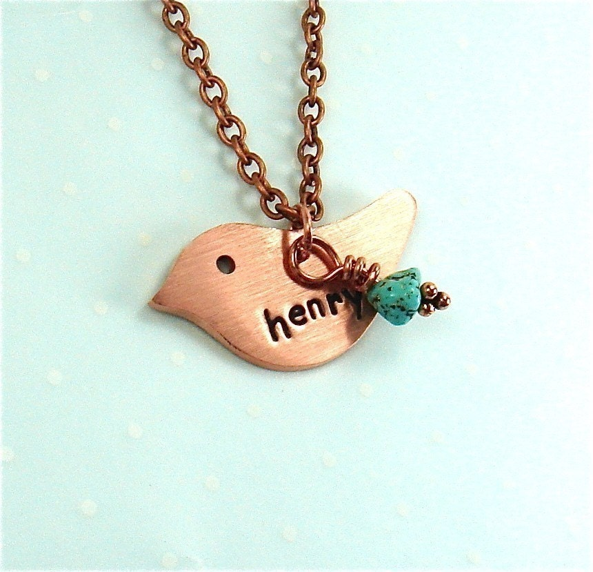 Mothers Day Gift Pendant Hand Stamped (seen in BabyTalk Magazine) - polkadotmagpie