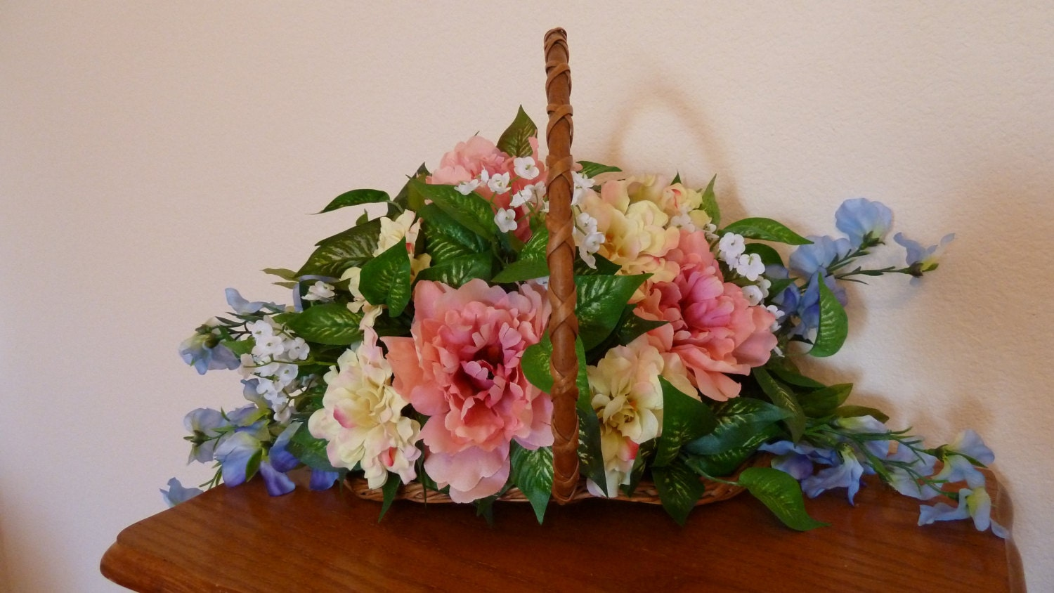 Easter silk floral arrangement of a beautiful by marvela