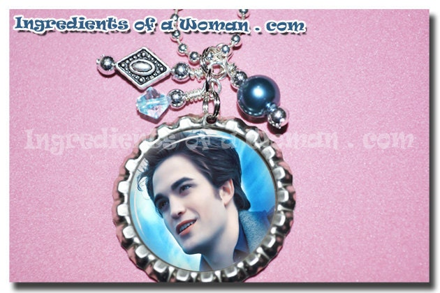 Edward Cullen Twilight Necklace Personalized Bottlecap Bottle Cap Vampire by Ingredients of a Woman