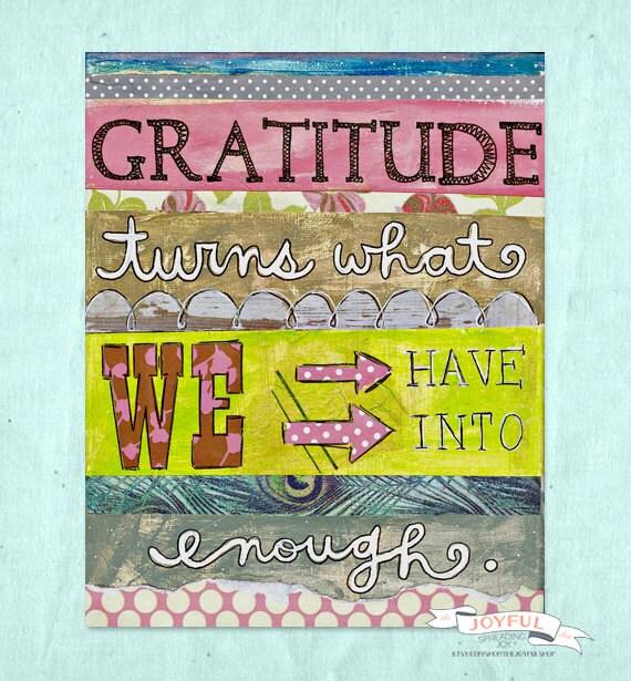 Gratitude 8x10 Print