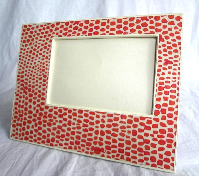 Pink Giraffe Print Picture Frame