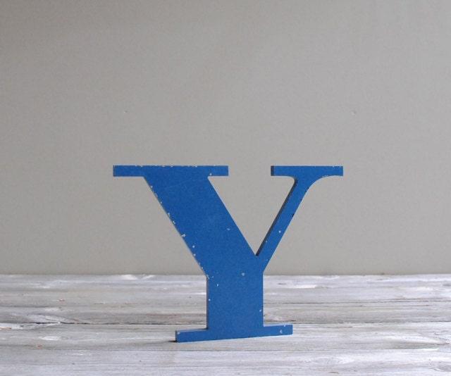Vintage Sign Letter Y - LittleDogVintage