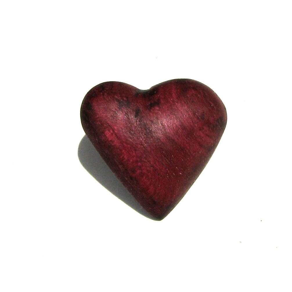 Peltogyne Purple Heart Wooden Pin / Brooch by Tanja Sova