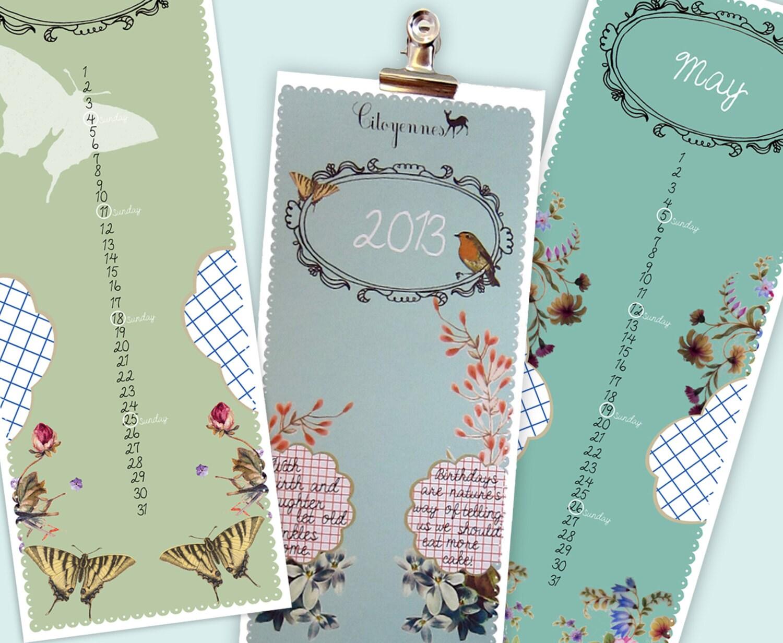 50% off 2013 Calendar - Citoyennes