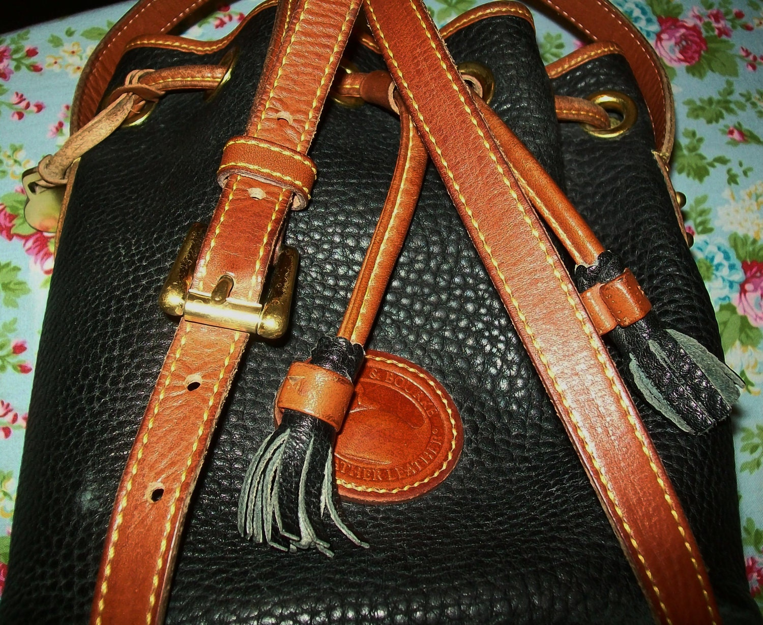 Review of my Dooney & Bourke Florentine Satchel in the color Natural