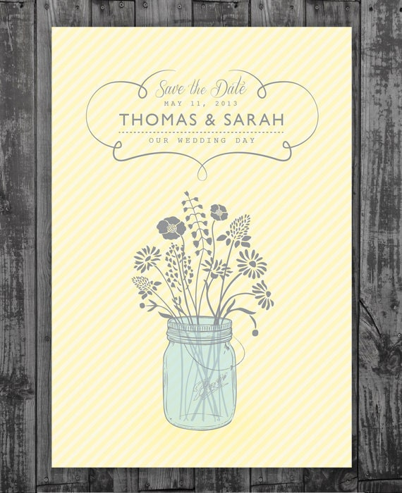Etsy Mason Jar Wedding Invitations
