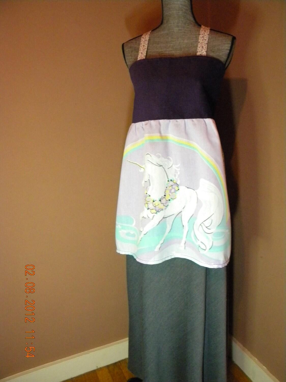 Vintage Unicorn Hippie Apron Shirt
