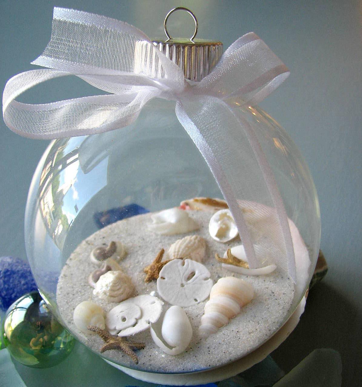 Пляж Декор Seashell рождественские украшения - Shell рождественские украшения бал