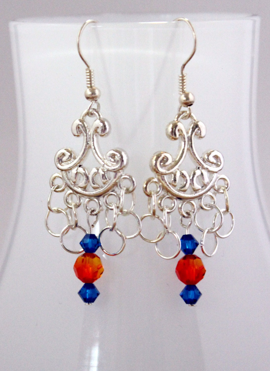 Swaroski Complementary Silver Chandelier Earrings