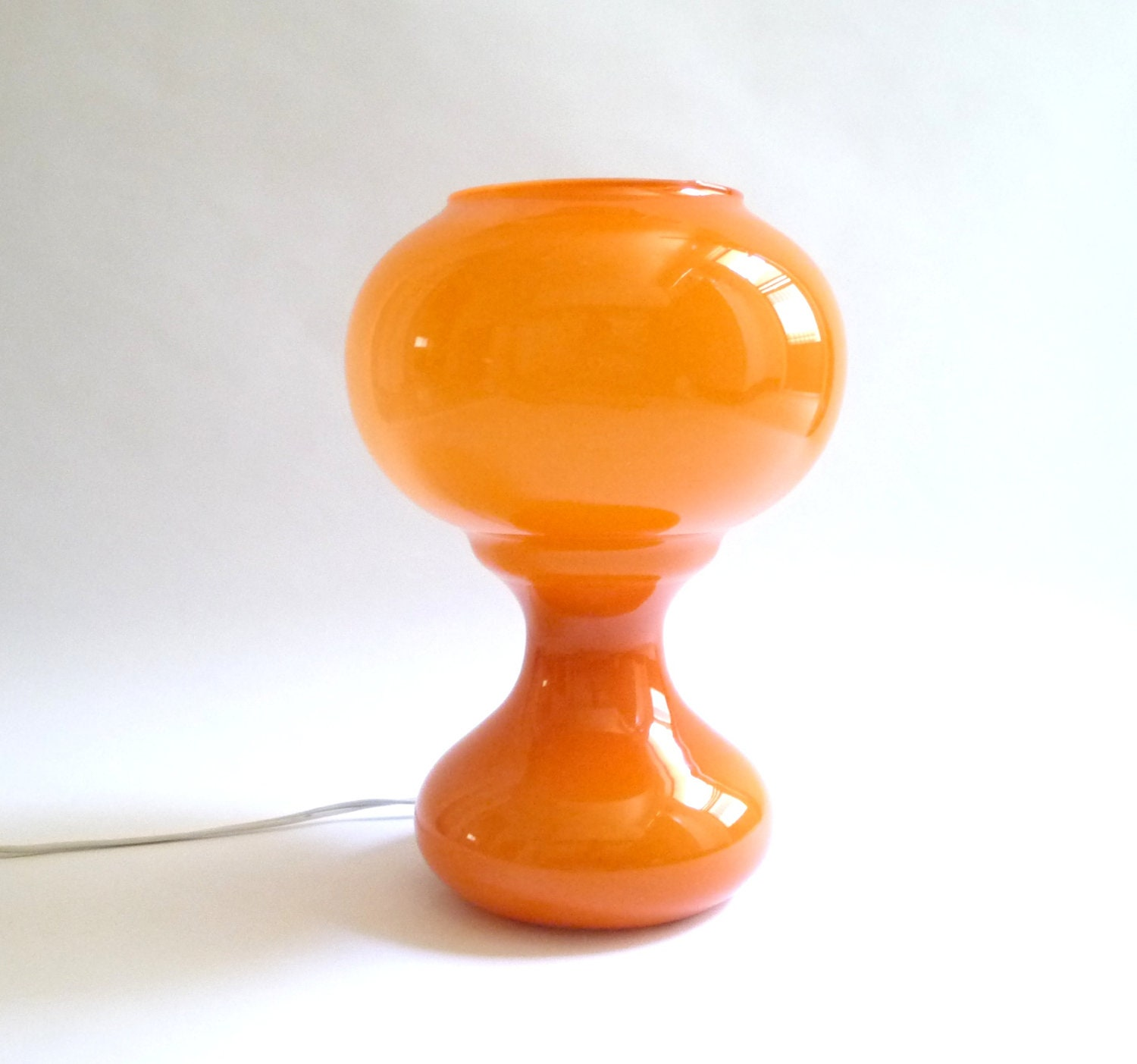 Mod Orange Cased Glass Lamp - mascarajones