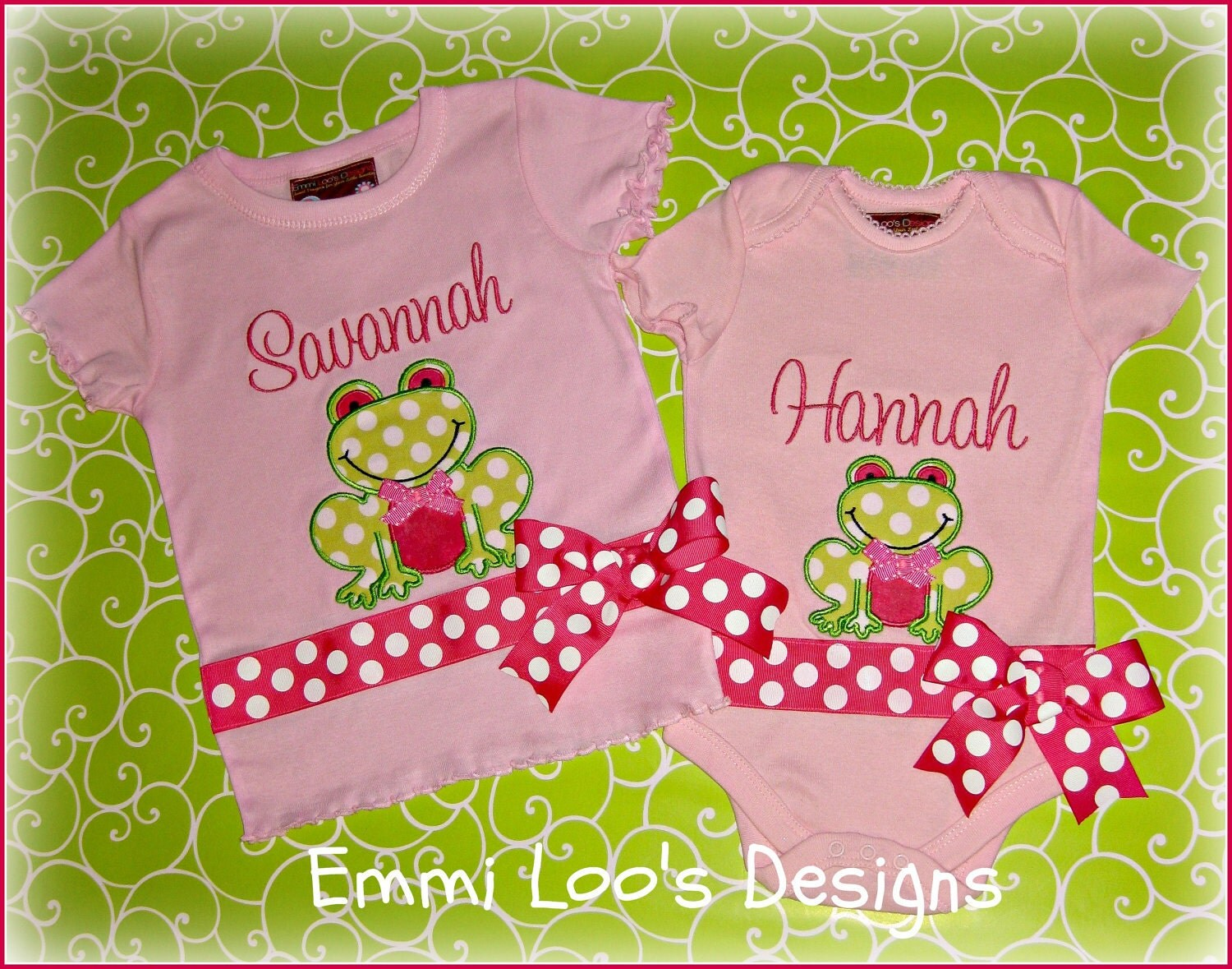Adorable Happy Frog Appliqued Lettuce Edge Tee - Ta Dot - Summer - READY TO SHIP