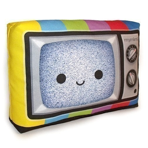 Mini Pillow - Happy Color TV