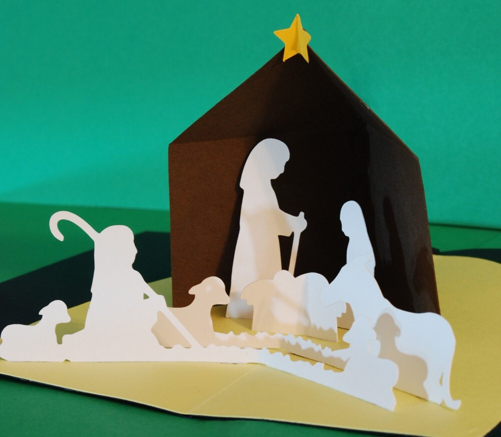 Nativity Christmas Pop-Up Card