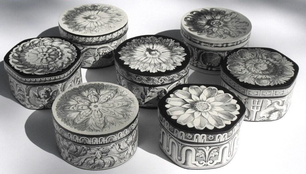 браслет коробки.  Хризантема, 17 гравюры века, декупаж