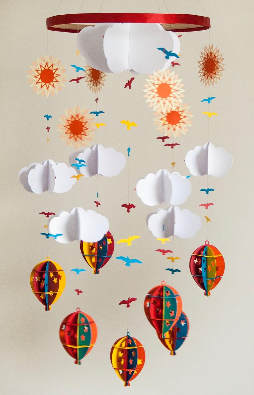 Hot air balloon mobiles, Etsy: PaperMoonMobiles