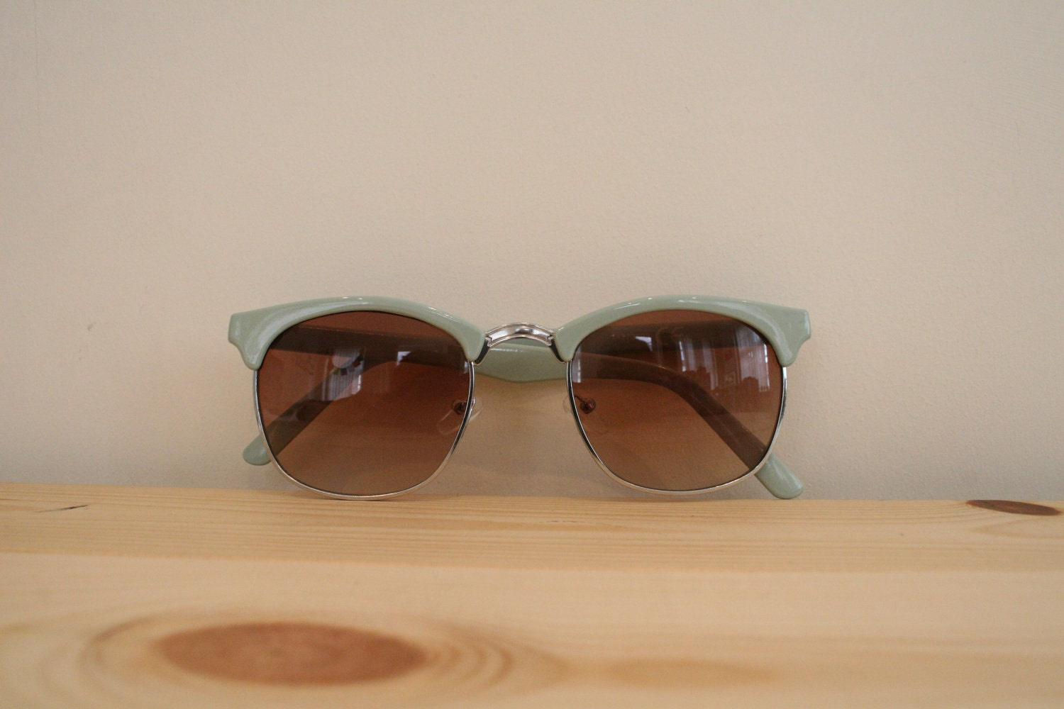 Mint Sunglasses pale blue green sun glasses frame lens cateye vintage women eyewear fashion sunnies shades geek nerd hipster 50s rockabilly