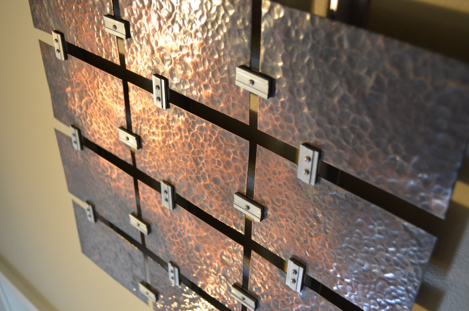 Hammered Copper wall art - Fabitecture