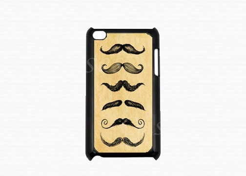 Ipod Touch 4 Case - Mustache Ipod 4G Touch Case, 4th Gen Ipod Touch Cases