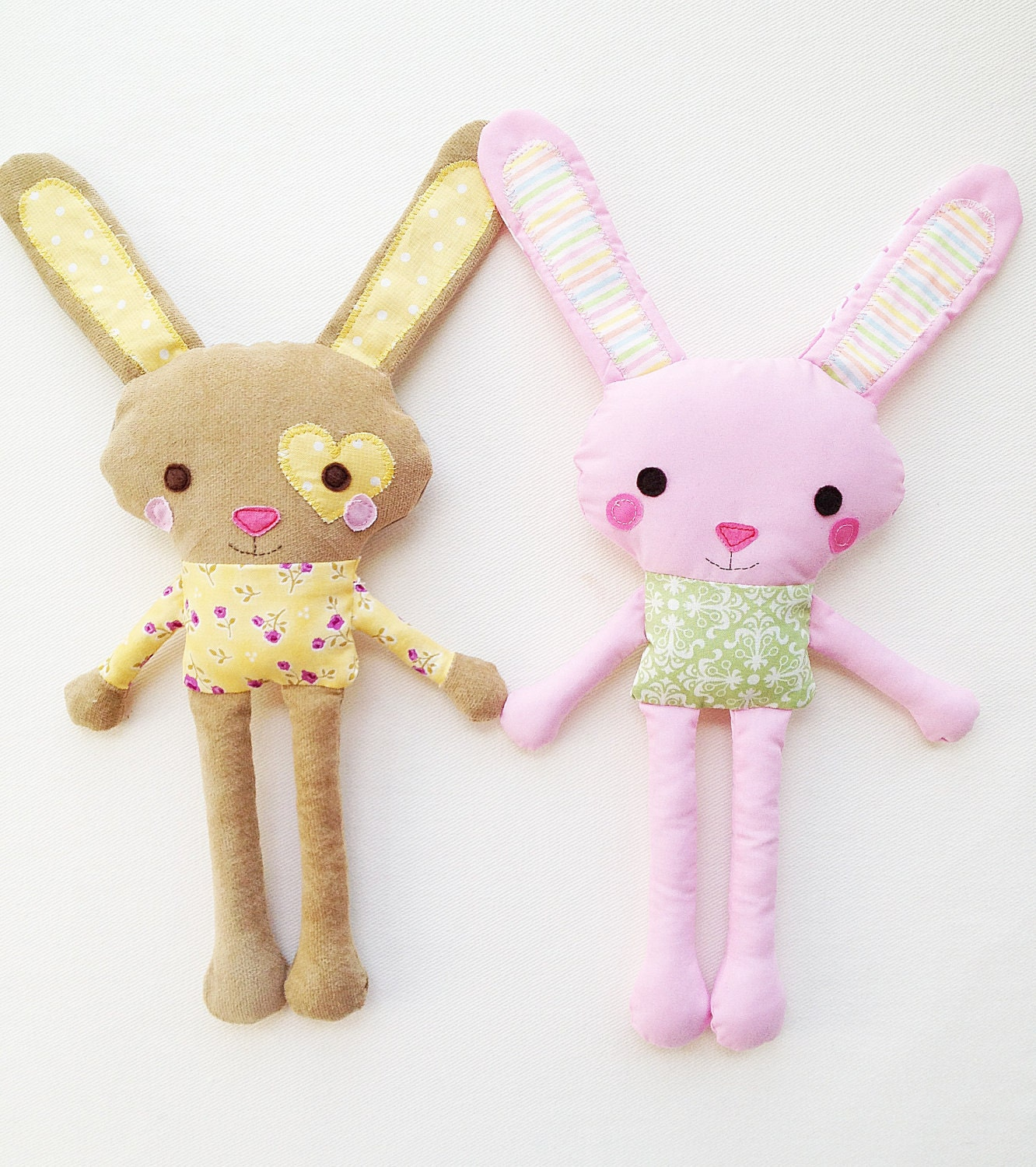 bunny template for sewing - bunny sewing pattern mini bunny plush toy pattern pdf