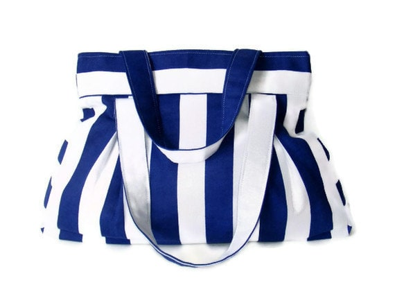 bag, everyday bag, blue and white striped purse, shoulder bag, gift ideas, spring ,summer, for her - seno