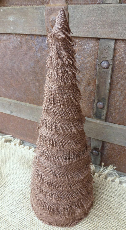 Rustic Brown Burlap Christmas Tree