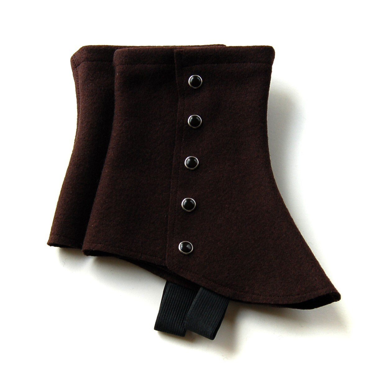SALE - chocolate short spats - one size fits most