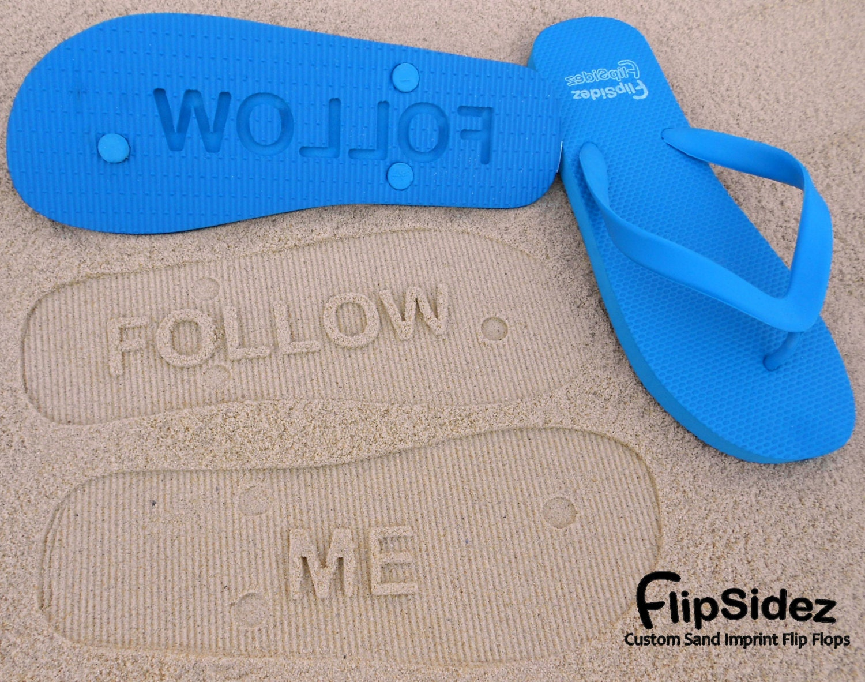 FlipSidez Personalized Sand Imprint Flip Flops