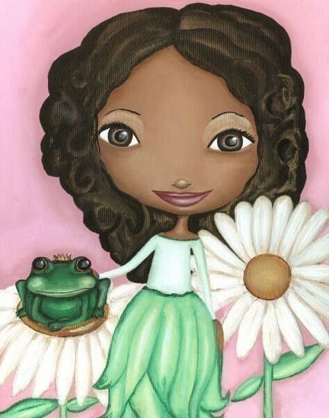 Frog Prince African American Nursery Art