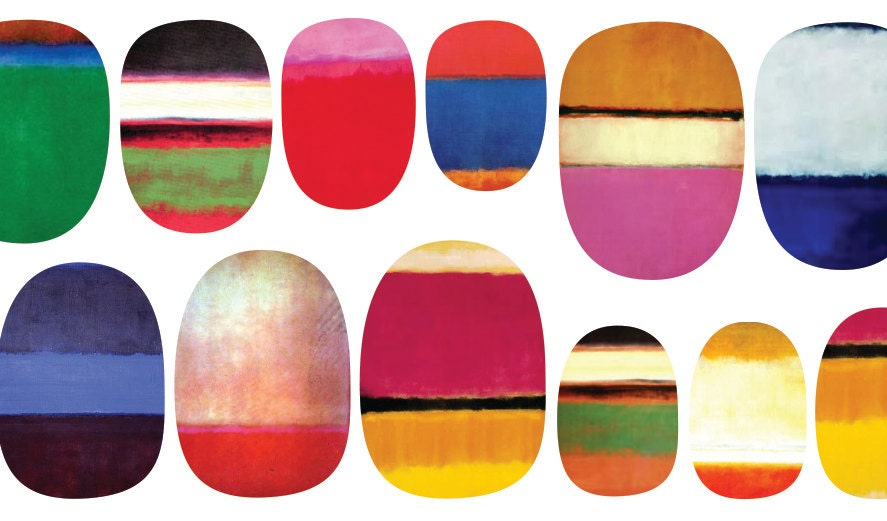 Nail Decals of Mark Rothko Paintings - IHeartNailArt
