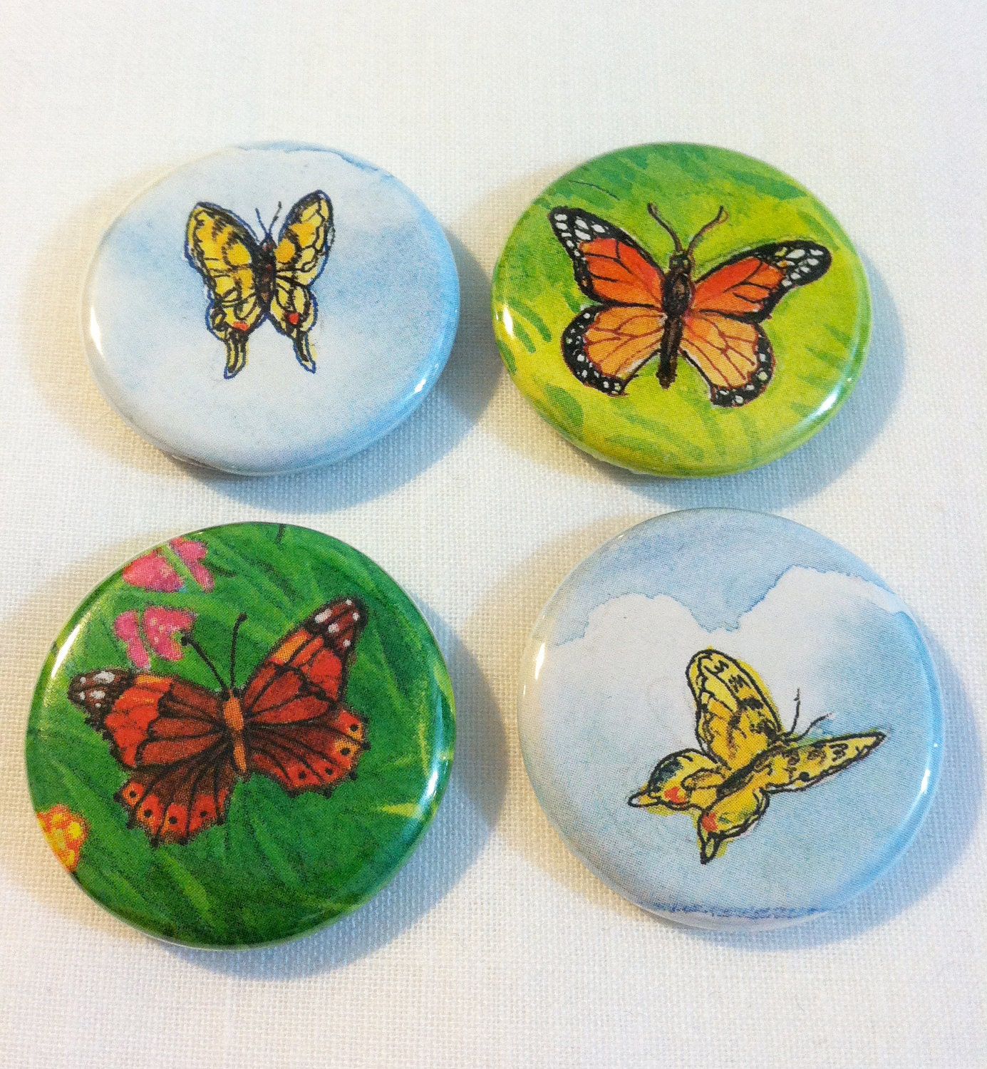 Butterfly magnet set