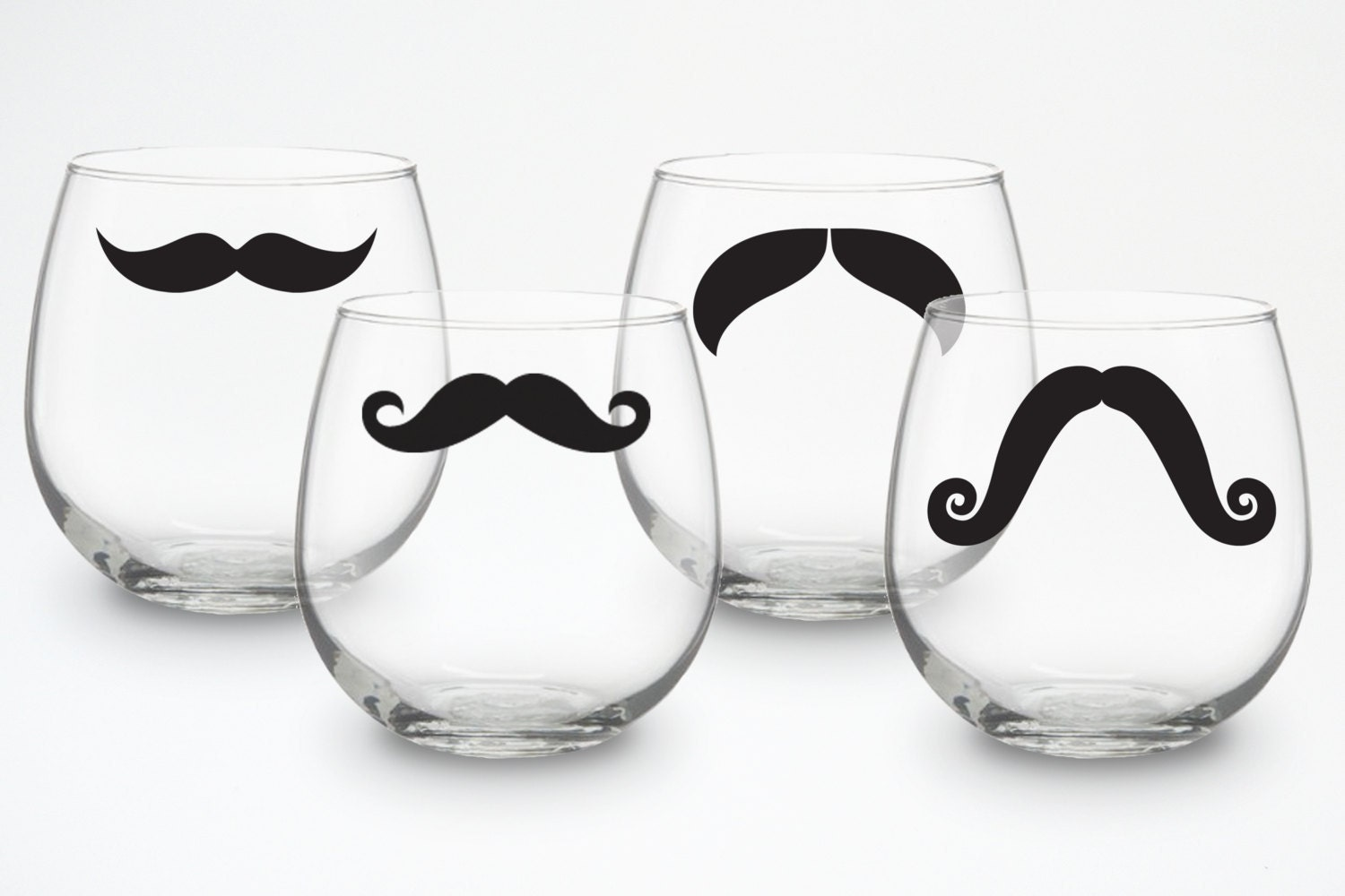 Stemless red Wine Glasses - set of 4