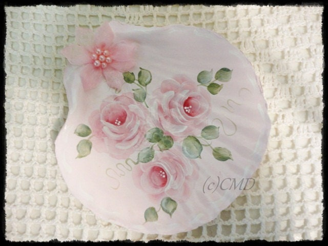 Beach Cottage Pink, Trio of Roses Sea Shell, CSST, ECS