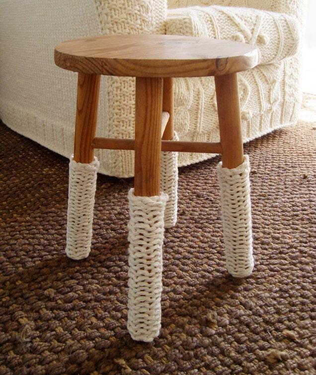 коренастый трикотажные гетры крем для стульев