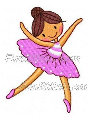 set of 10 ballerina ballet dancers machine embroidery design