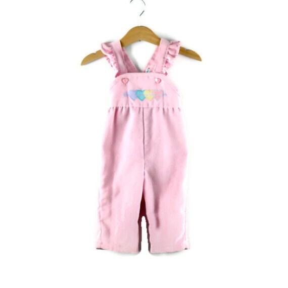 Vintage Health Tex Pink Corduroy Overalls Size 6 Months - udaskids