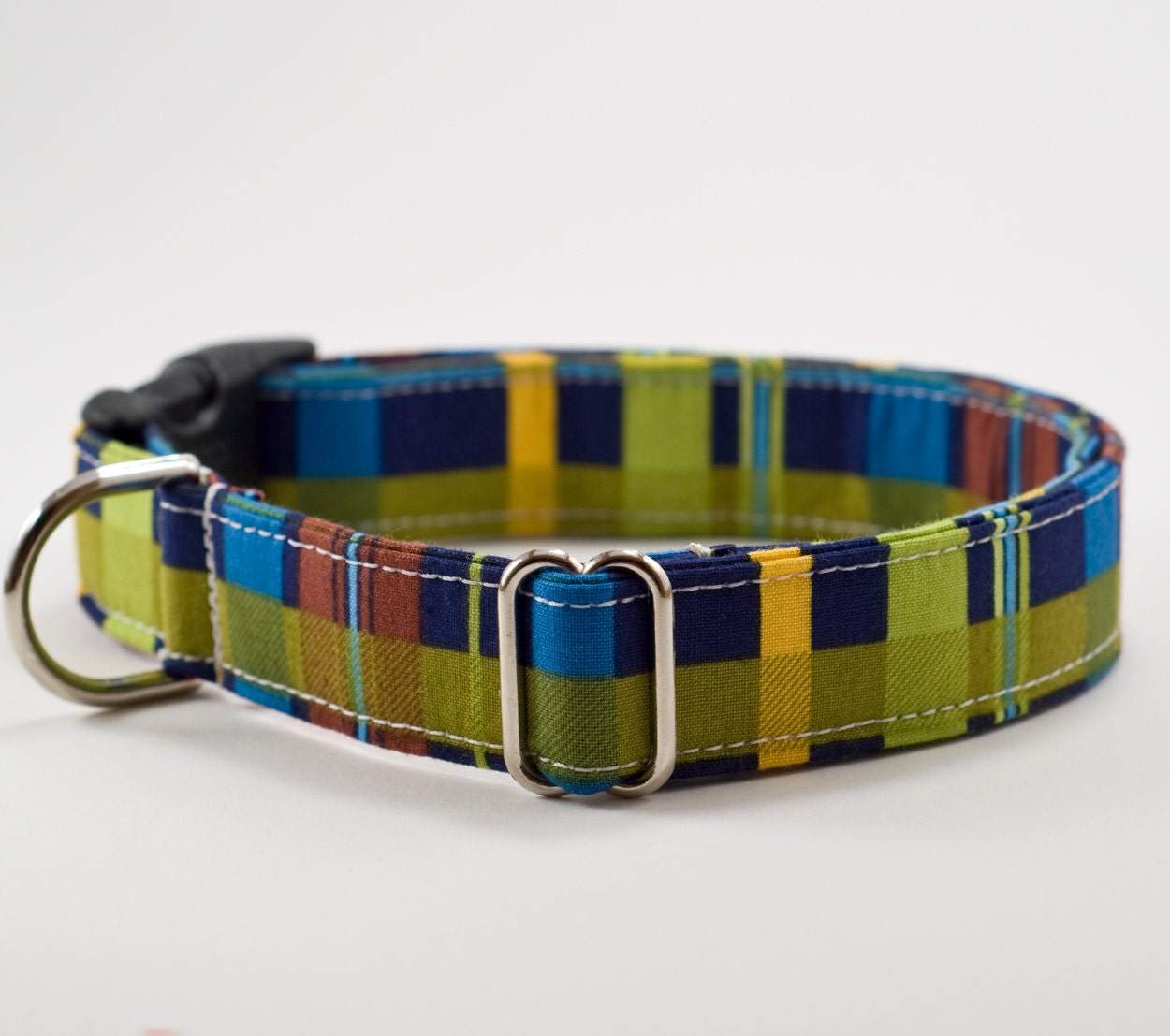 Dark Plaid Dog Collar