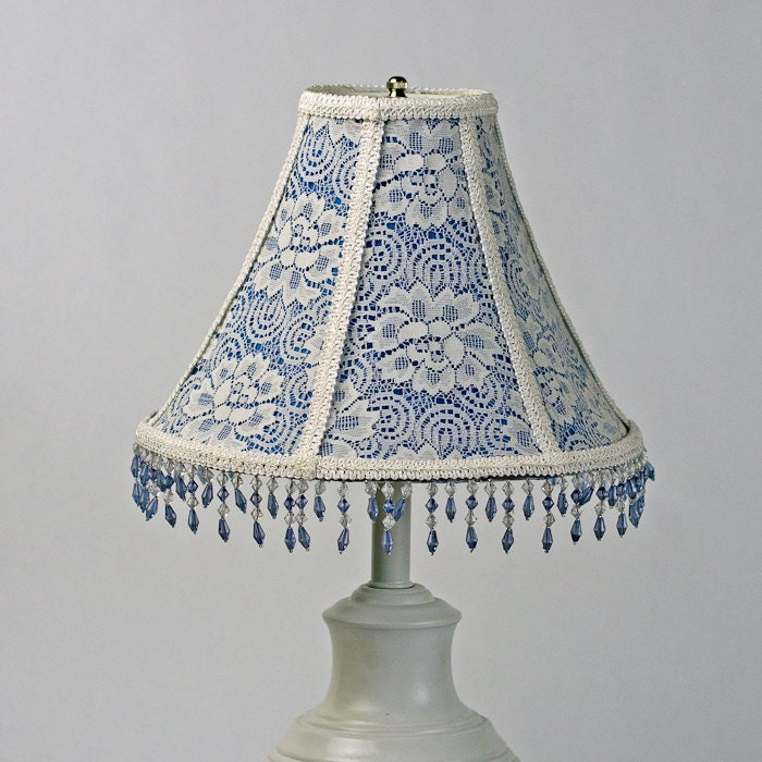 Floral lamp shades lace lamp shadeblue lamp shadevictorian lamp shades blue on lace lamp shade blue lamp shade victorian lampshade vintage aloadofball Image collections