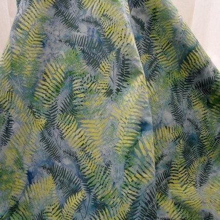 Batik: Montego Fern Bali from Hoffman - 1/2 YD - FabricFascination