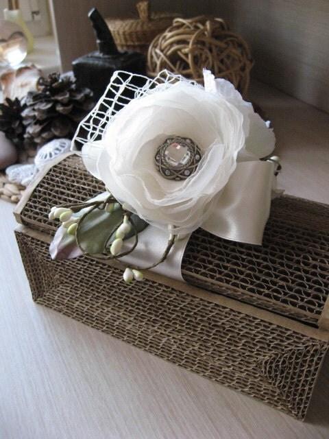 Shabby Chic wedding card box vintage rustic unique teasury box Keepsake