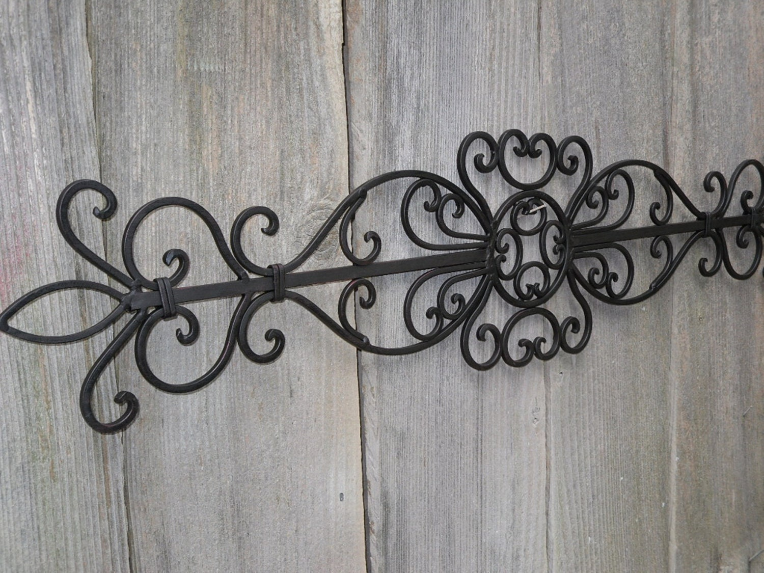 rectangle wrought iron wall art home decor accents amp accessories - Outdoor Metal Wall Decor
