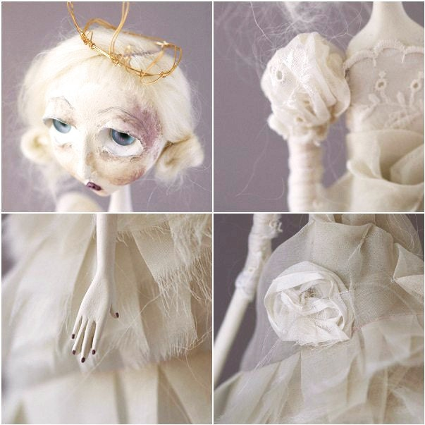 The White Queen - Alice in Wonderland Art Doll